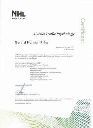 Certificaat Traffic Psychology 001