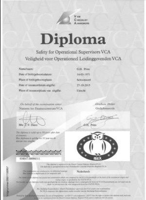 Diploma VCA-VOL 001